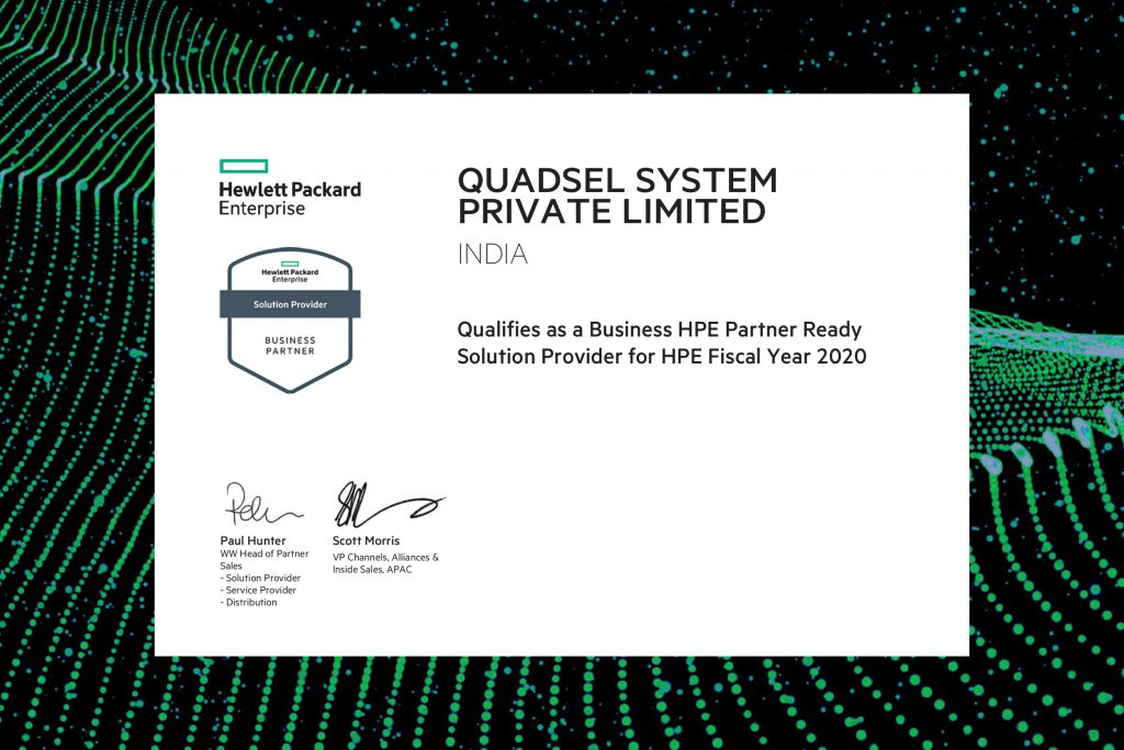 Quadsel Systems Pvt Ltd HP Certification
